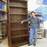 Lupe with bookcase