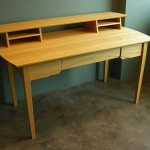 Executive desk in satinwood